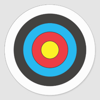 Archery Target Round Sticker
