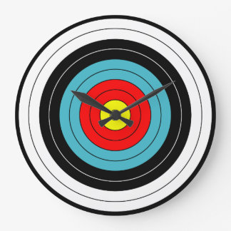 Archery Target Sports Large Clock