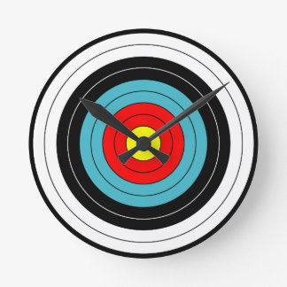 Archery Target Sports Round Clock