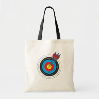 Archery Target with Arrows Budget Tote Bag