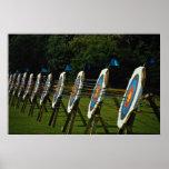 Archery targets near Brentwood, Essex, U.K. Print