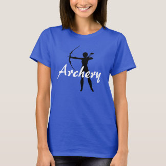 """""""Archery"""" with Female Archer Silhouette T-Shirt"""