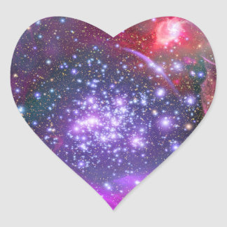 Arches Cluster the Densest Milky Way Star Cluster Heart Sticker
