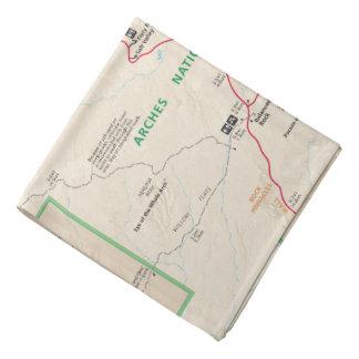 Arches map bandana