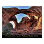 Arches National - Double Arch Poster