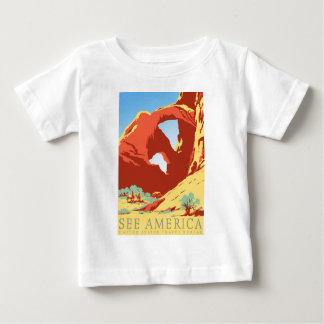 Arches National Park Colorado co Vintage Travel Baby T-Shirt