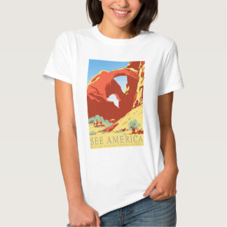 Arches National Park Colorado co Vintage Travel Tshirts