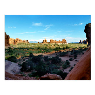 Arches National Park from a distance Postcard