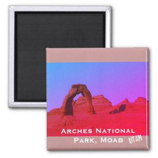 Arches National Park, Moab, Utah Landscape Square Magnet