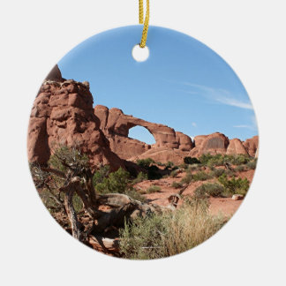 Arches National Park, near Moab, Utah, USA Round Ceramic Decoration