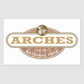 Arches National Park Rectangular Sticker
