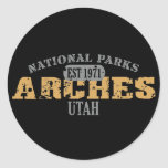 Arches National Park Round Stickers
