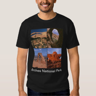 Arches National Park Sandstone Aches Collage Shirt