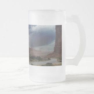 Arches National Park Sheep Rock Frosted Glass Mug