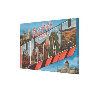Arches National Park, Utah - Large Letter Canvas Print