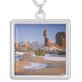 ARCHES NATIONAL PARK, UTAH. USA. Balanced Rock Silver Plated Necklace