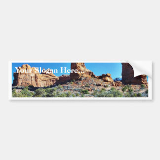 Arches National Parks Balancing Stones Balanced Bumper Sticker