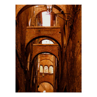 Arches of Siena Italy Poster