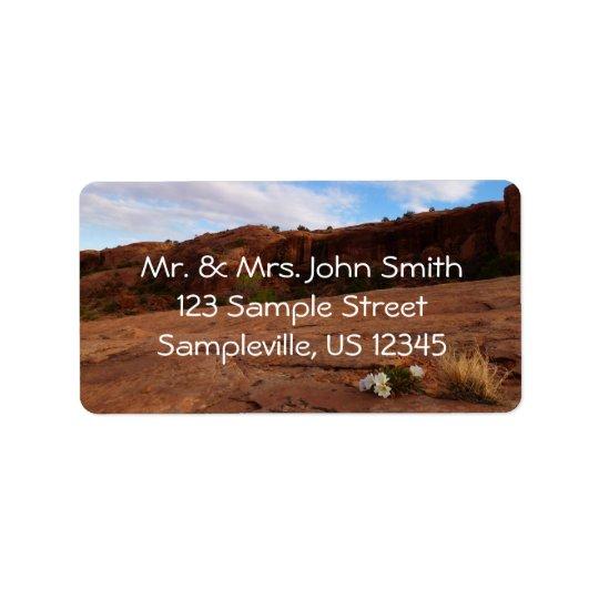 Arches Slickrock and Evening Primrose Landscape Address Label