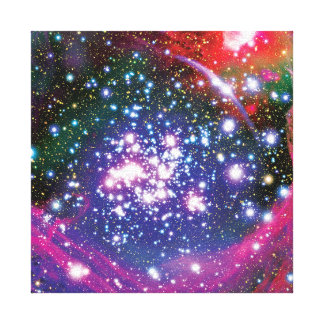 Arches Star Cluster Colorful Artist Impression Canvas Print