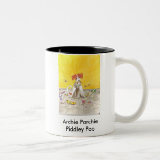Archie Parchie Piddley Poo Two-Tone Coffee Mug