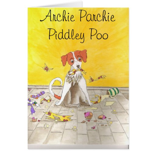 Archie ParchiePiddley Poo Note Card