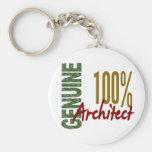 Architect 100% Genuine Basic Round Button Key Ring