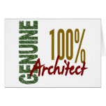 Architect 100% Genuine Greeting Card