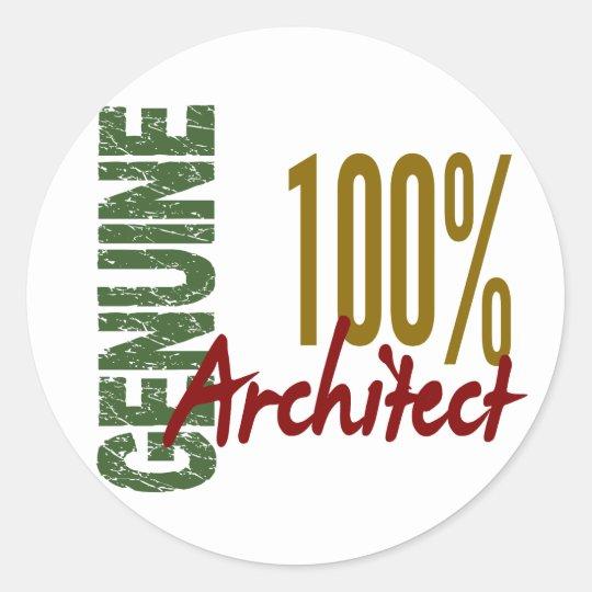 Architect 100% Genuine Round Sticker