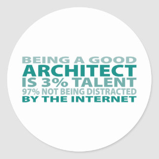 Architect 3% Talent Classic Round Sticker