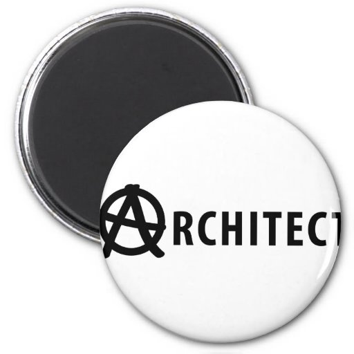 architect 6 cm round magnet