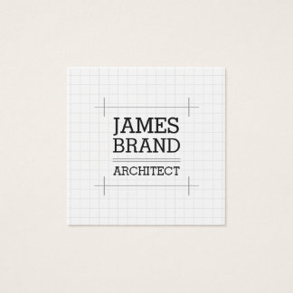 Architect Builder Engineer Square Business Card