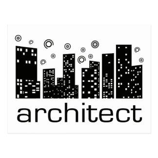 Architect Buildings Cool design! Postcard