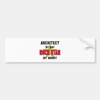 Architect by Day rockstar by night Bumper Sticker