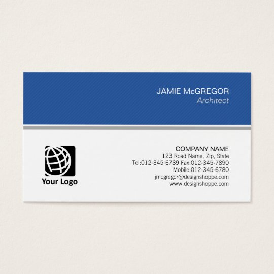 Architect Construction Simple Minimal Professional Business Card