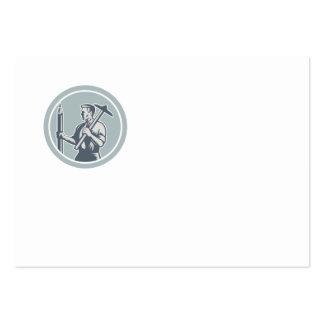 Architect Draftsman Circle Retro Business Card