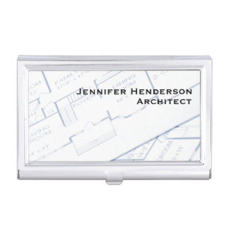 Architect, Floor Plans Business Card Holder