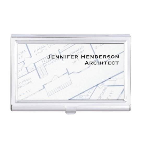 Architect, Floor Plans Business Card Holders