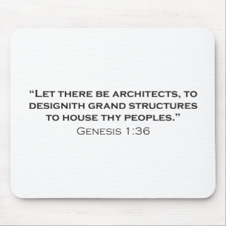 Architect / Genesis Mousepad