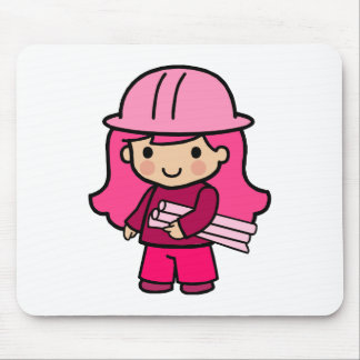Architect Girl Mouse Pad