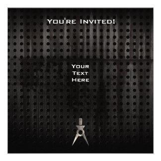 Architect; Grunge Personalized Invitation