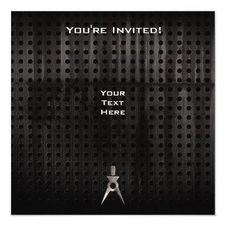 Architect; Grunge 13 Cm X 13 Cm Square Invitation Card
