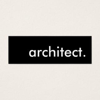architect. mini business card