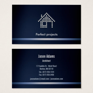 Architect Perfect Project Blue Business Card