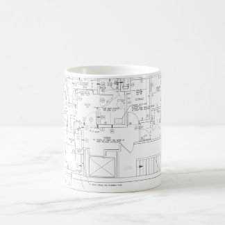 architect plans coffee mug