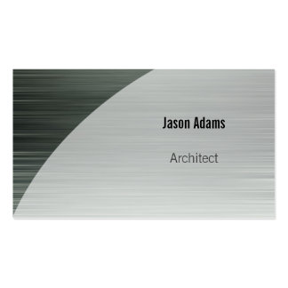 Architect | Silver Metallic Background Pack Of Standard Business Cards