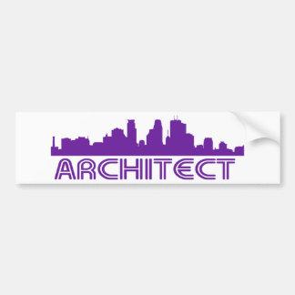 Architect Skyline design! Bumper Sticker