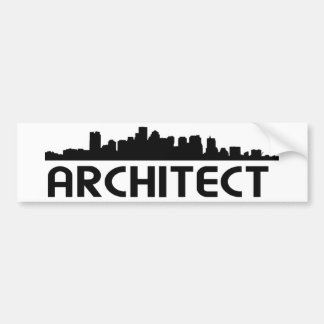 Architect Skyline design! Bumper Sticker