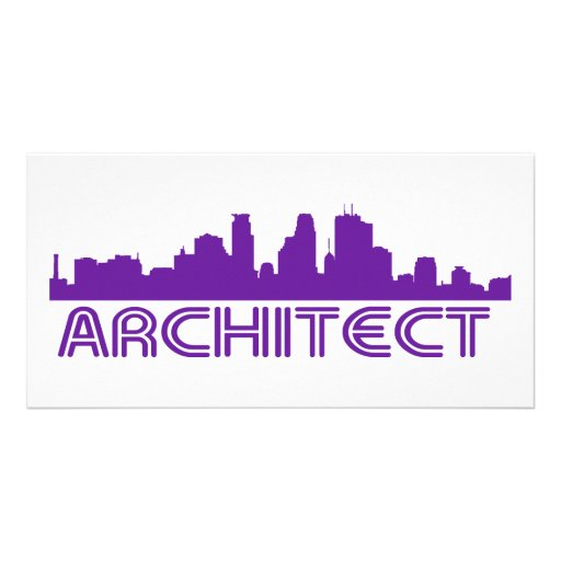 Architect Skyline design! Picture Card