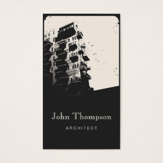 Architect Vintage Town House Modern Building Business Card